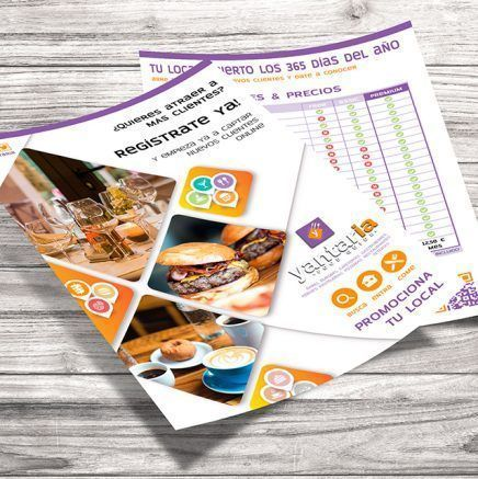 Yantaria Food Guide – Flyer A4 – 2 caras